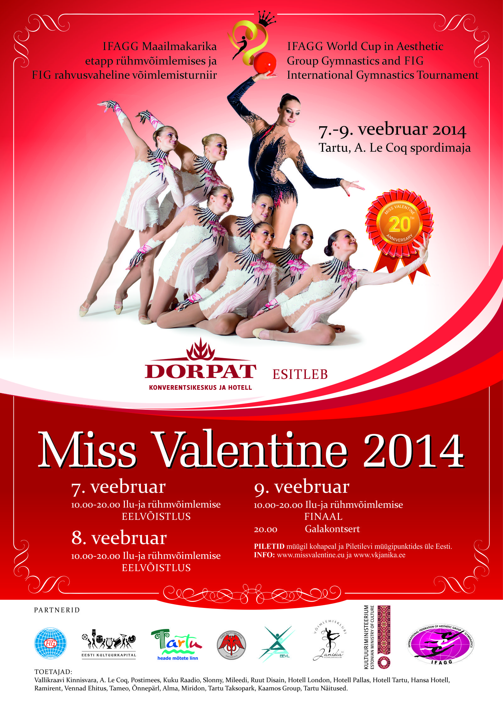 Miss Valentine Is An International Tournament Of Rhythmic Gymnastics,  Hosted In Tartu, Estonia. This Year It Will Be The 20th Miss Valentine  Tournament In A ...